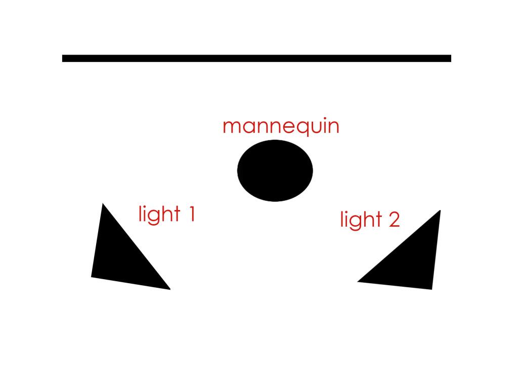 the original light set up